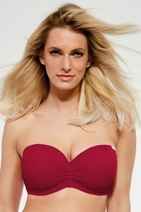 Krisline Beach bra balkonette bathing-bordeaux