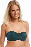 Krisline Beach bandeau bra bathing emerald