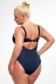 Beach soft swimsuit piece navy blue, Krisline