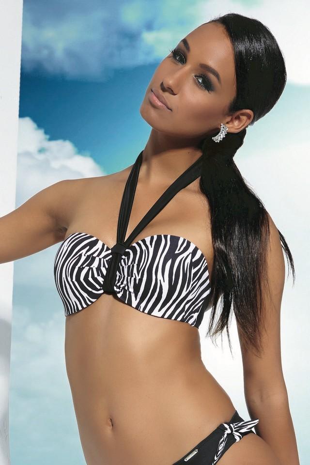d674cd77bd86d8 Krisline Madagaskar biustonosz kąpielowy balkonette - bardotka. Kliknij aby  powiększyć