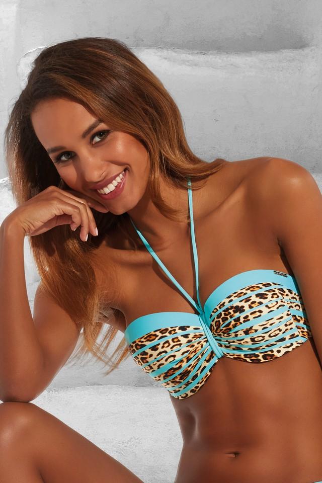60d94af351d086 Krisline Panther biustonosz kąpielowy balkonette - bardotka. Kliknij aby  powiększyć